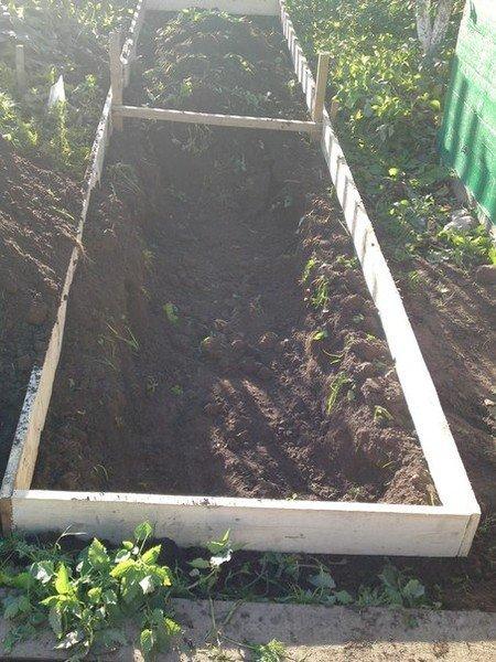 Короб с землёй 5 х 1 м