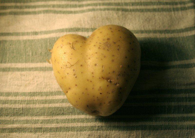 Картофель в виде сердца