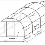 Схема парника из поликарбоната