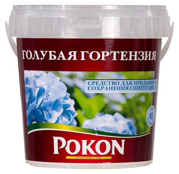 Средство фирмы Pokon для голубого цвета гортензии