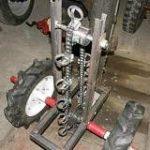 Установлены колеса и натянута цепь