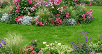 Красивые клумбы из многолетних цветов на даче