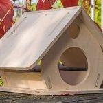 Кормушка-домик с одним входом
