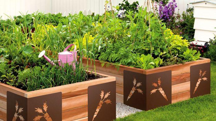 Высокие грядки в дизайне сада