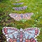 Дорожка в виде бабочек