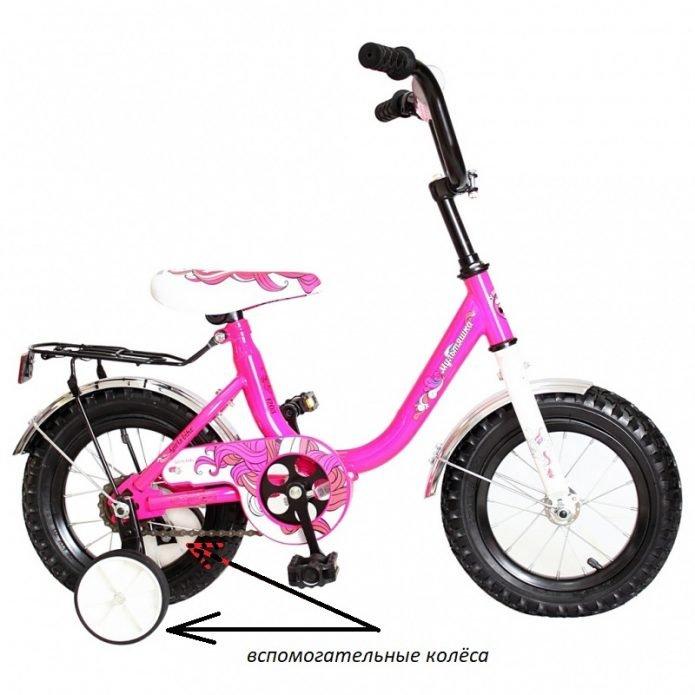 Велосипед с подстраховкой