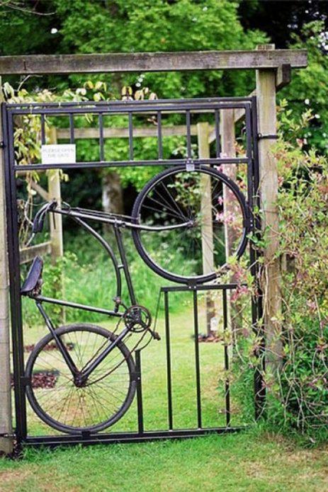 Калитка из велосипеда