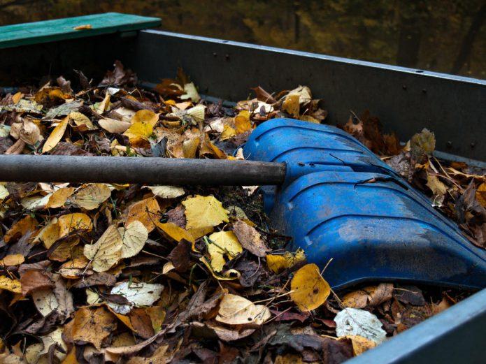 Компостирование опавших листьев
