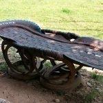 Лежак из шин