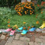 Бордюр из обуви