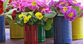 Цветочные горшки из подручных материалов - отличный способ украсить жилище красиво и оригинально