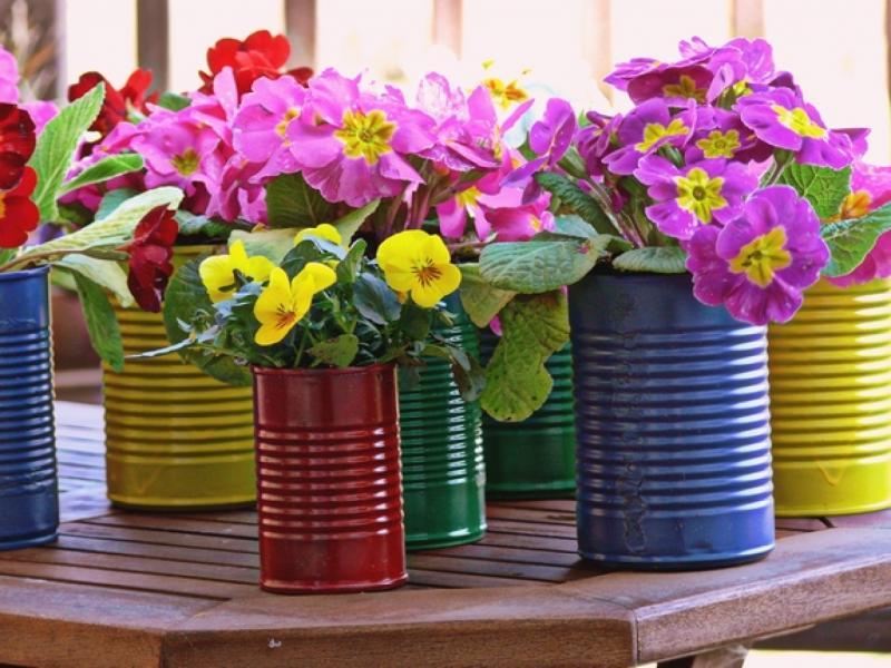 Горшки для цветов своими руками из подручных