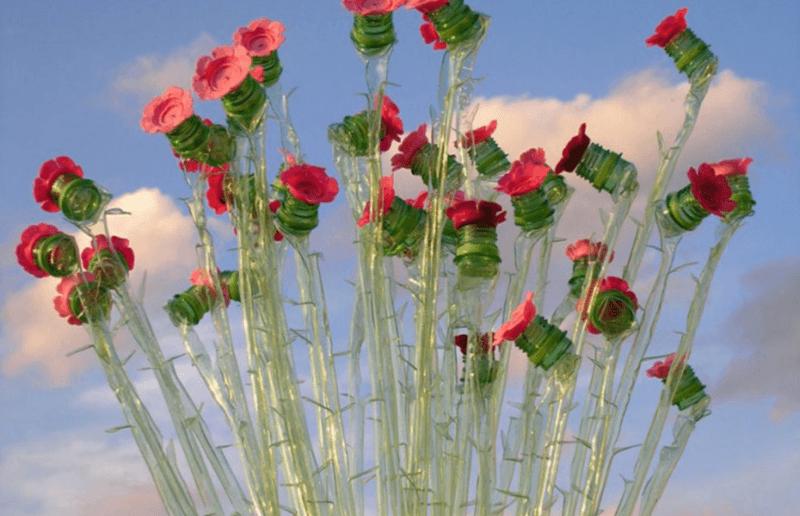 цветы для дачи из бутылок