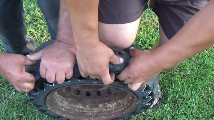 Выворачиваем шину