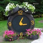 клумба-часы