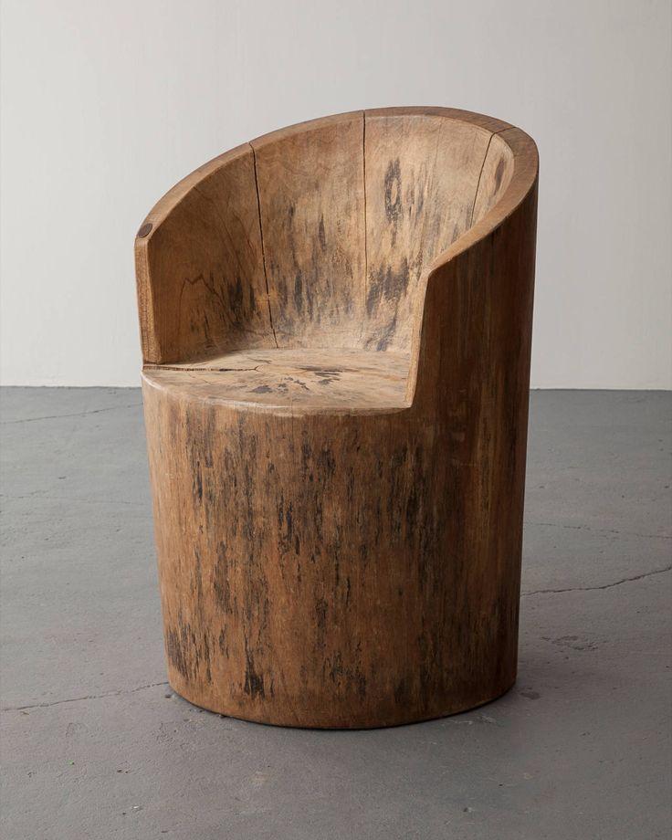Кресло из чурбака
