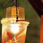 Светильник из двух пластиковых ведёрок