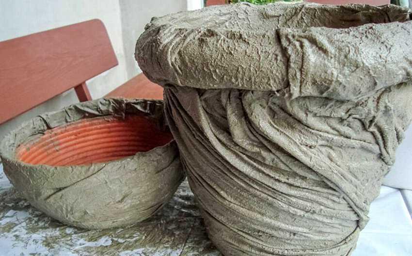 Ткань на вазе