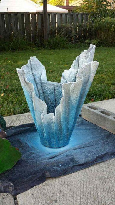 Покраска вазы