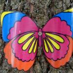 Нарядная бабочка из пластиковой бутылки