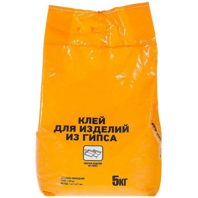 Упаковка клея для гипсовых изделий