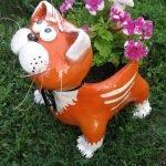 Фигурка-горшок для цветов в виде кота