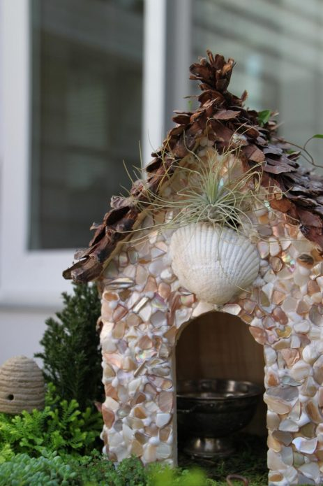 Дом со стенами из осколков ракушек