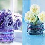 Декорирование вазочек бисером