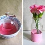 Раскрашивание нижней части вазы в один цвет