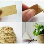 Декорирование вазы бумажными полосками