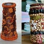 Декорирование ваз крупой и семенами