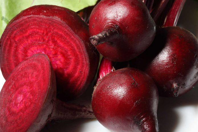 Корнеплоды свёклы в разрезе
