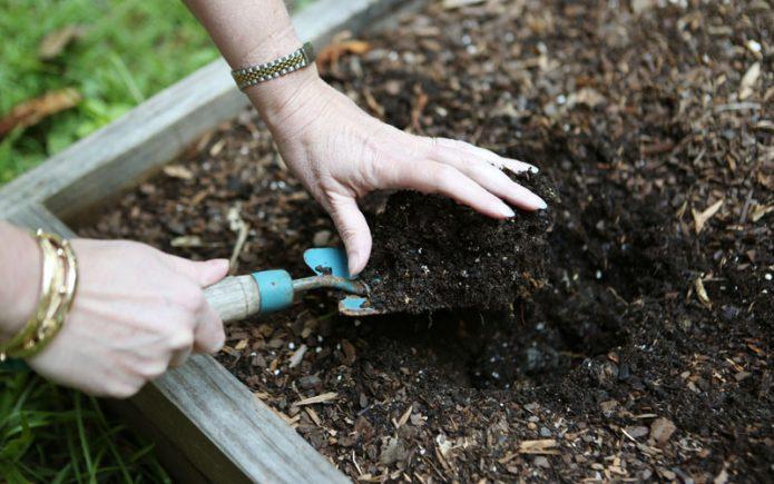 Подготовка почвы для тёплой гряды