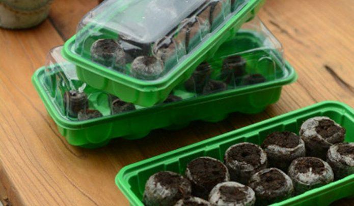 Торфяные таблетки в контейнерах