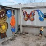 Детские панно с медведем и бабочками