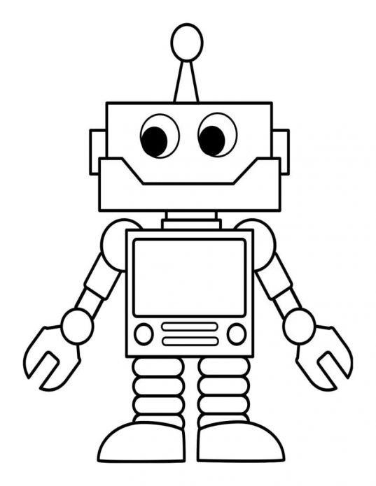 Рисунок-основа для панно Робот