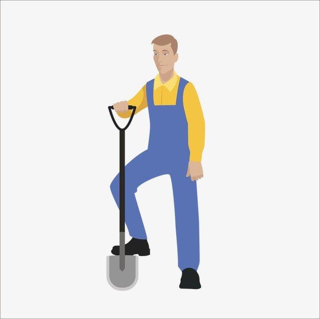 Человек с лопатой