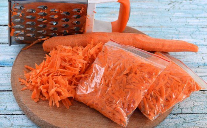 Заморозка моркови как способ хранения