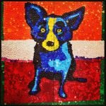 панно собака в стиле поп-арт