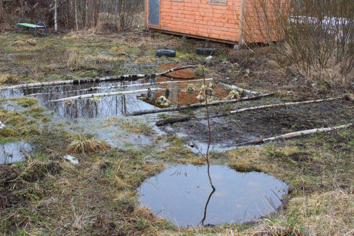 Затопленный участок