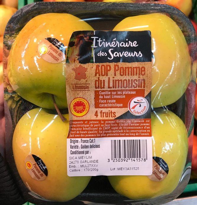 Pomme du Limousin AOP