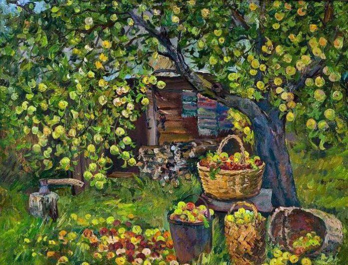 Яблоня в старинном российском саду