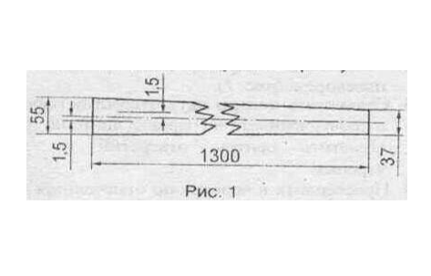 Рисунок черенка для плоскореза Фокина