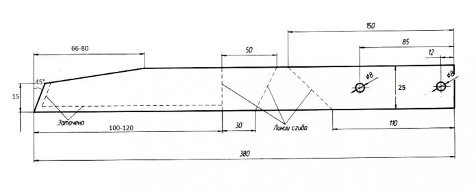 Схема изготовления малого плоскореза