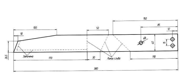 Схема изготовления большого плоскореза