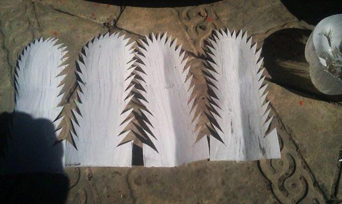 Зубчатый край перьев