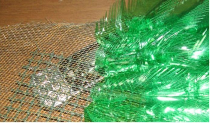 Оформление крыла из сетки