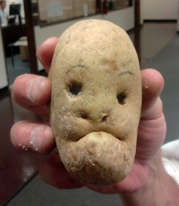 Картошка с лицом