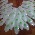 Второй вариант перьев для павлина