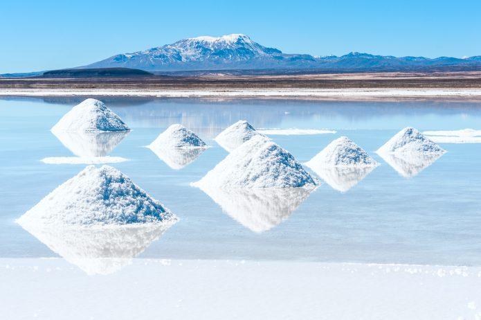 Самый большой в мире солончак Уюни, расположенный в Боливии